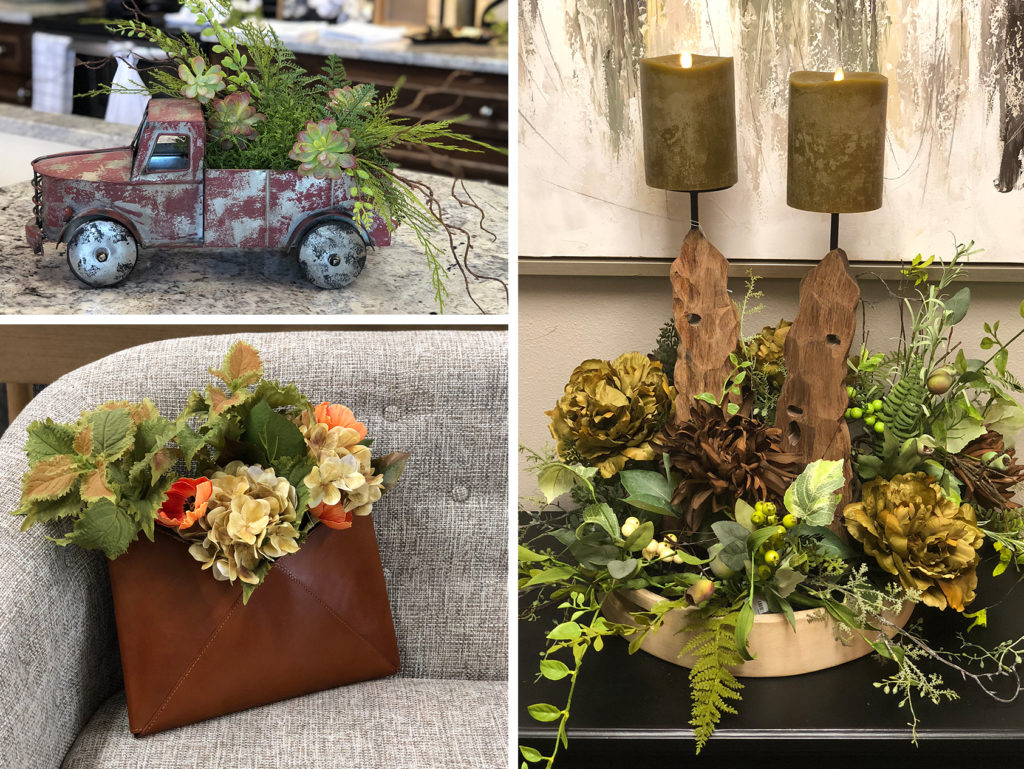 creative floral arrangements by The Markket staff
