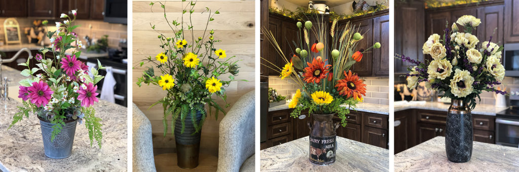 Floral Arrangements created by  the Markket staff